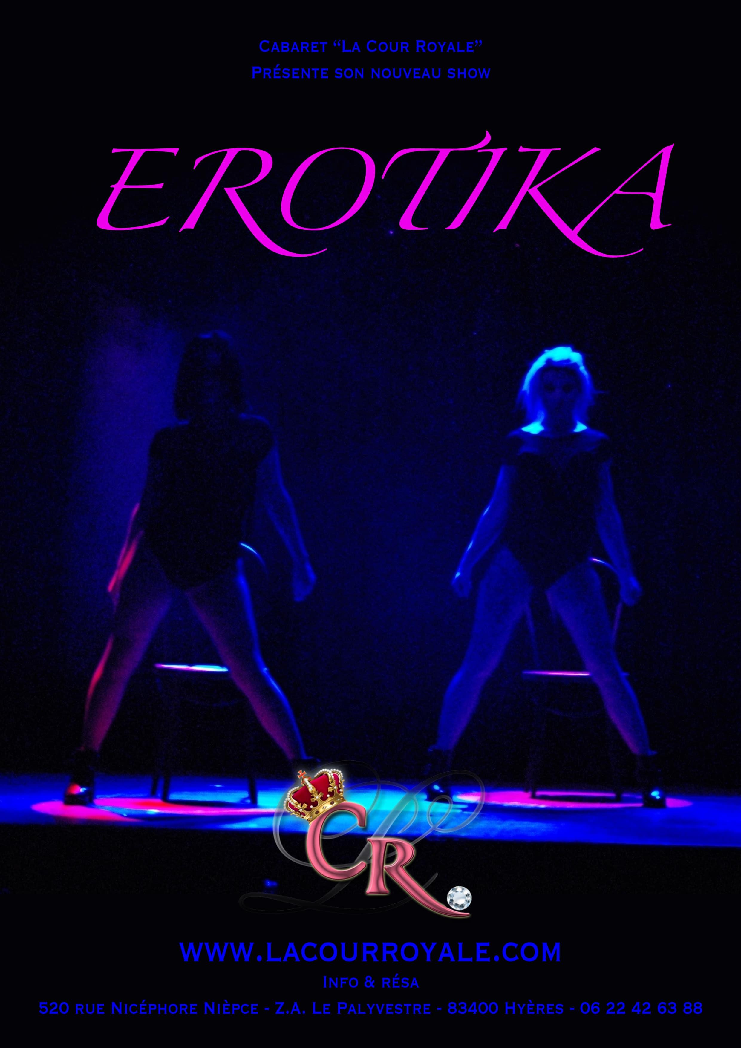 Affiche EROTIKA Dîner Spectacle sexy Var