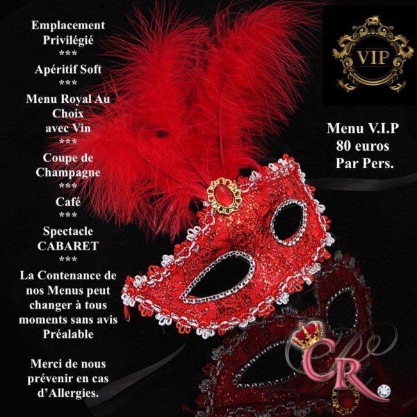 Dîner spectacle VAR menu VIP DU CABARET LA COUR ROYALE HYERES VAR PACA SUD
