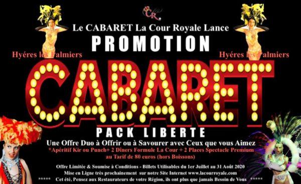 Dîner spectacle VAR Pack liberté, réservez votre soirée cabaret diners spectacles dès maintenant