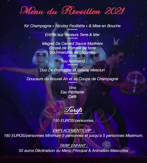 Soirée réveillon 2021 Cabaret Var